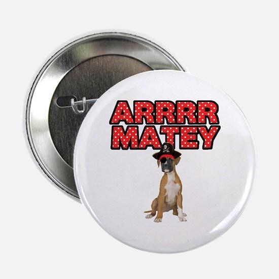 "Pirate Boxer Dog 2.25"" Button"