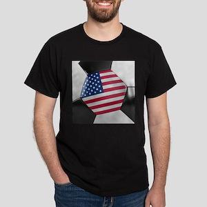 USA Soccer Ball Dark T-Shirt