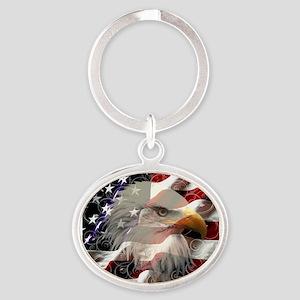 American Eagle Flag Keychains