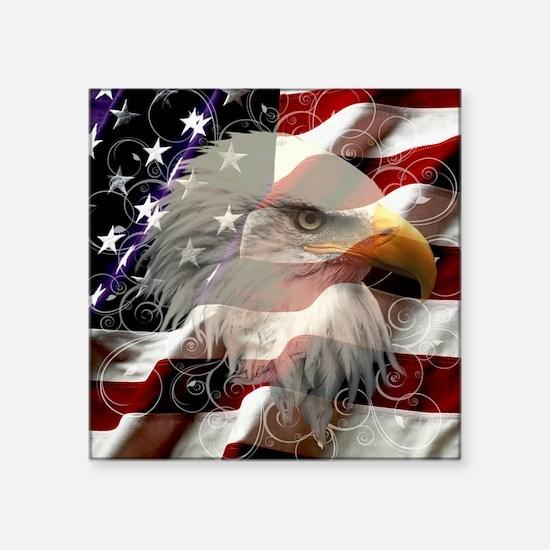 American Eagle Flag Sticker