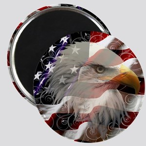 American Eagle Flag Magnets