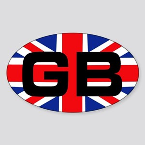 GB union jack Oval Sticker
