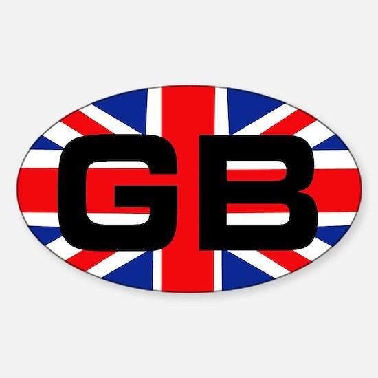 GB union jack Oval Decal