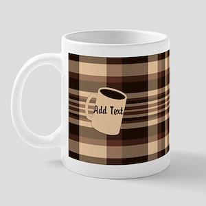 Cup of Coffee plaid dark Mug