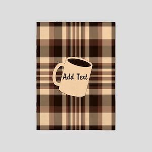 Cup of Coffee plaid dark 5'x7'Area Rug