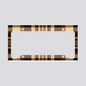 Cup of Coffee plaid dark License Plate Holder