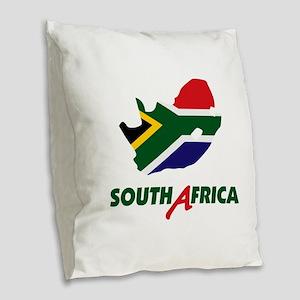 South Africa Burlap Throw Pillow