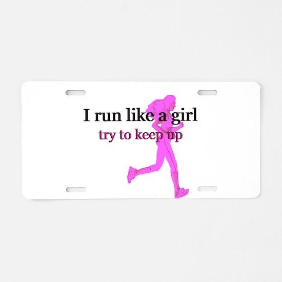 runlikegirl.png Aluminum License Plate