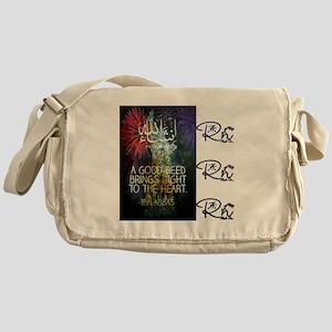 RightOn Good Deed Messenger Bag