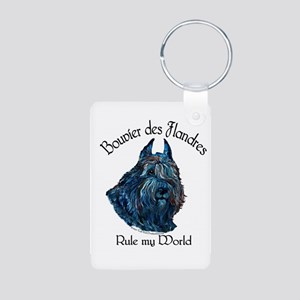 Bouvier des Flandres Rule Aluminum Photo Keychain