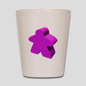 Purple Meeple Shot Glass
