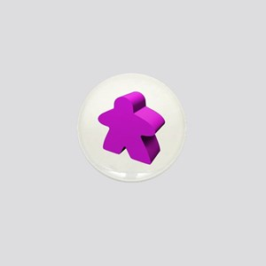 Purple Meeple Mini Button