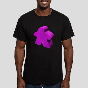 Purple Meeple Men's Fitted T-Shirt (dark)