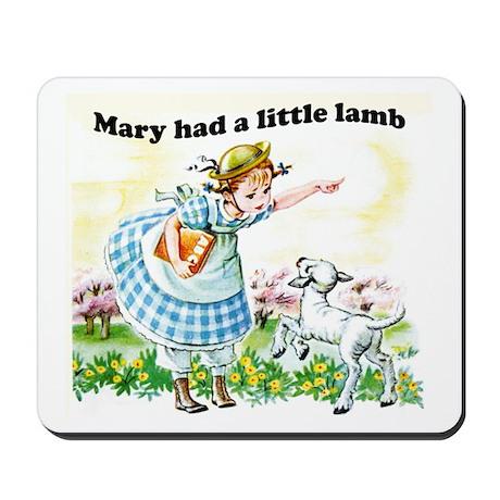 Mary Had a Little Lamb Mousepad