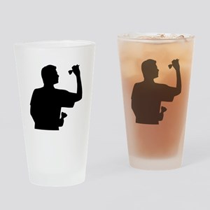 Darts player Drinking Glass