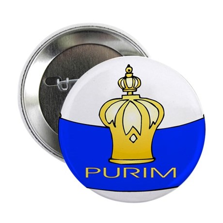 """Purim 2.25"""" Button (100 pack)"""