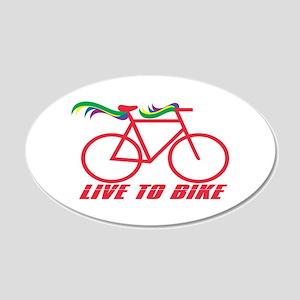 Live To Bike Wall Decal