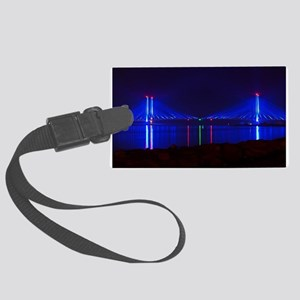 Indian River Bridge Night 2 Large Luggage Tag