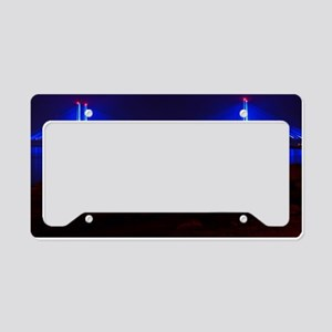 Indian River Bridge Night 2 License Plate Holder