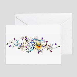 Heart and butterflies Greeting Cards