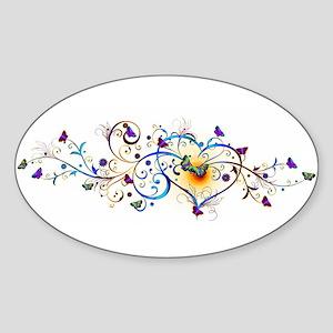 Heart and butterflies Sticker