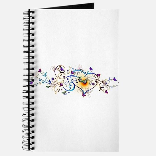 Heart and butterflies Journal