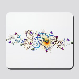 Heart and butterflies Mousepad