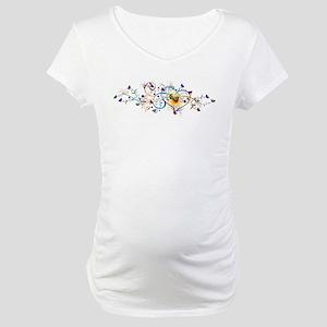 Heart and butterflies Maternity T-Shirt