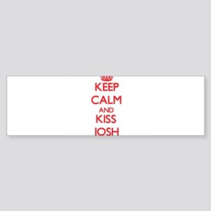 Keep Calm and Kiss Josh Bumper Sticker
