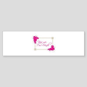 Kiss Me Im French Bumper Sticker