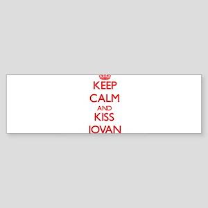 Keep Calm and Kiss Jovan Bumper Sticker