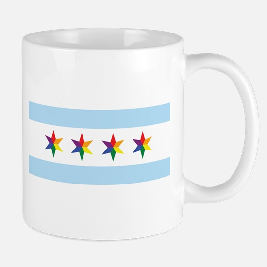 Chicago Municipal Pride Flag Mugs