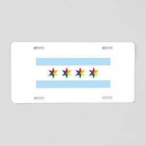 Chicago Municipal Pride Flag Aluminum License Plat