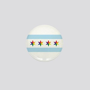 Chicago Municipal Pride Flag Mini Button