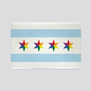 Chicago Municipal Pride Flag Magnets