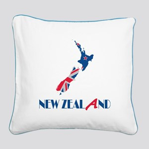 New Zealand Square Canvas Pillow
