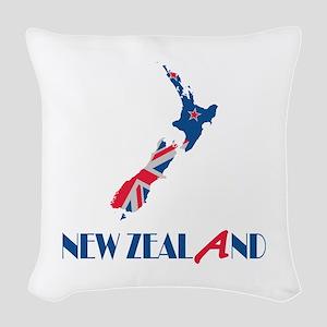 New Zealand Woven Throw Pillow