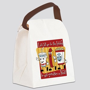 Lets all go to the Lobby Canvas Lunch Bag