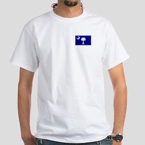 South Carolina Flag White T-Shirt