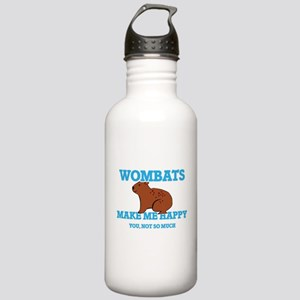 Wombats Make Me Happy Stainless Water Bottle 1.0L