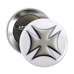 Titanium Chrome Biker Cross Button
