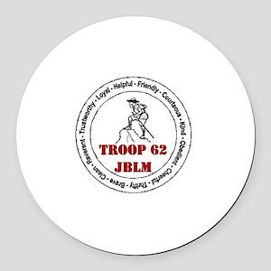 troop 62 Round Car Magnet