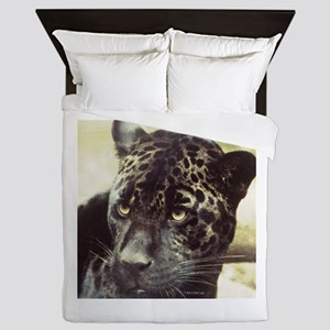Black Leopard Queen Duvet