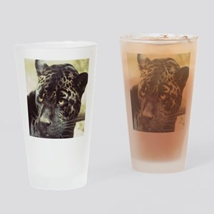 Black Leopard Drinking Glass
