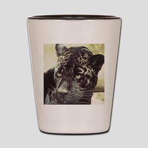 Black Leopard Shot Glass