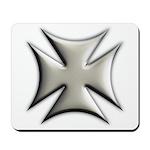 Titanium Chrome Biker Cross Mousepad