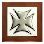 Titanium Chrome Biker Cross Framed Tile