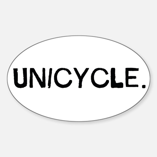 Unicycle Sticker Oval
