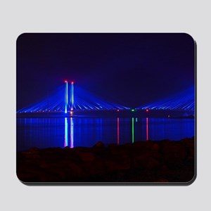 Indian River Bridge at Night Mousepad