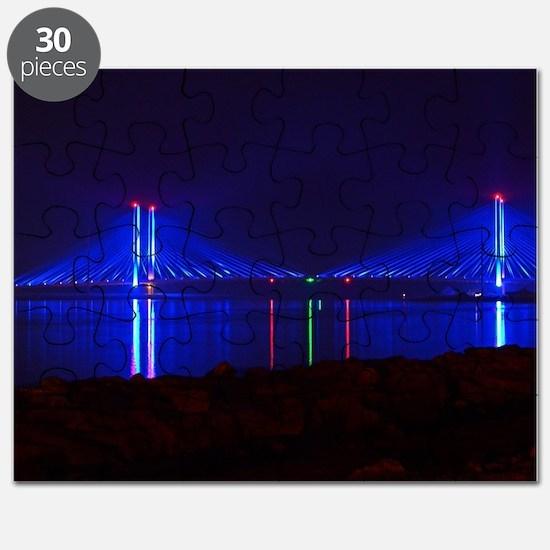 Indian River Bridge at Night Puzzle